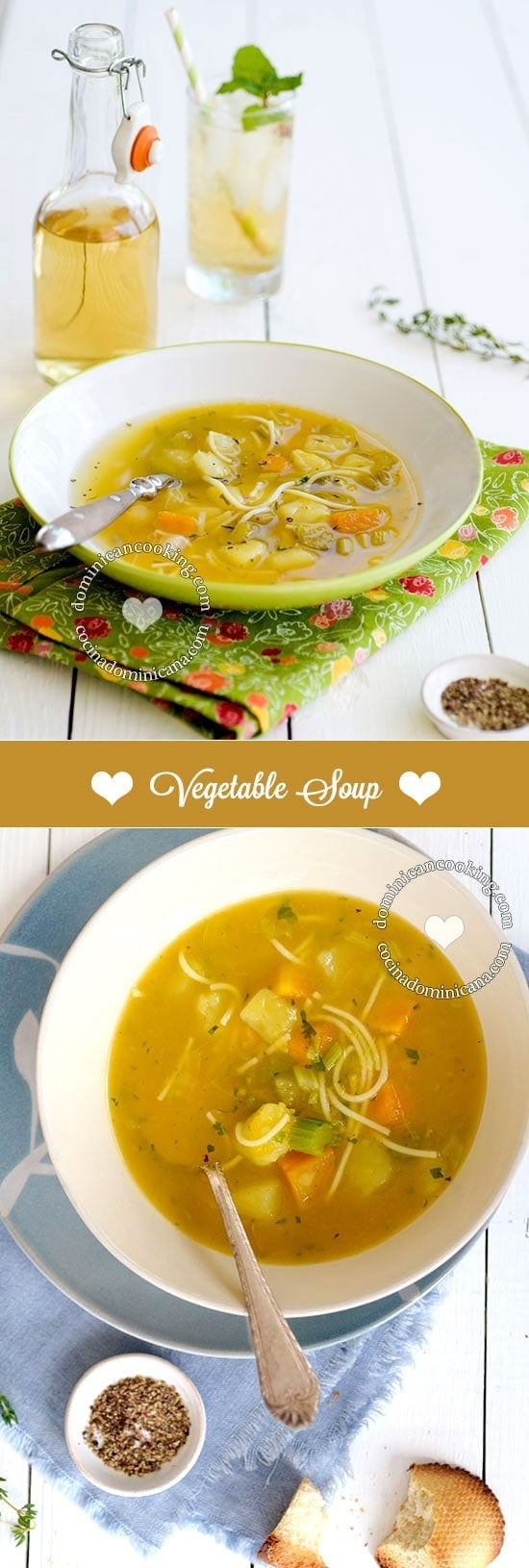"Sopa Boba Recipe (Vegetable Soup): a lighter, easier alternative to other soups in our blog. It is called ""lame"" because it doesn't contain meat or seafood."