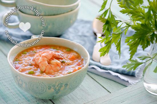 Asopao De Camarones Recipe Shrimp And Rice Pottage