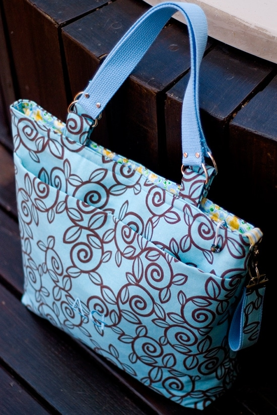 A very different diaper bag