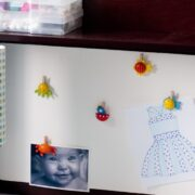 Tack-less Bulletin Board for Kids: Rule no. 1 of raising small kids: Keep sharp and pointy objects away from them.