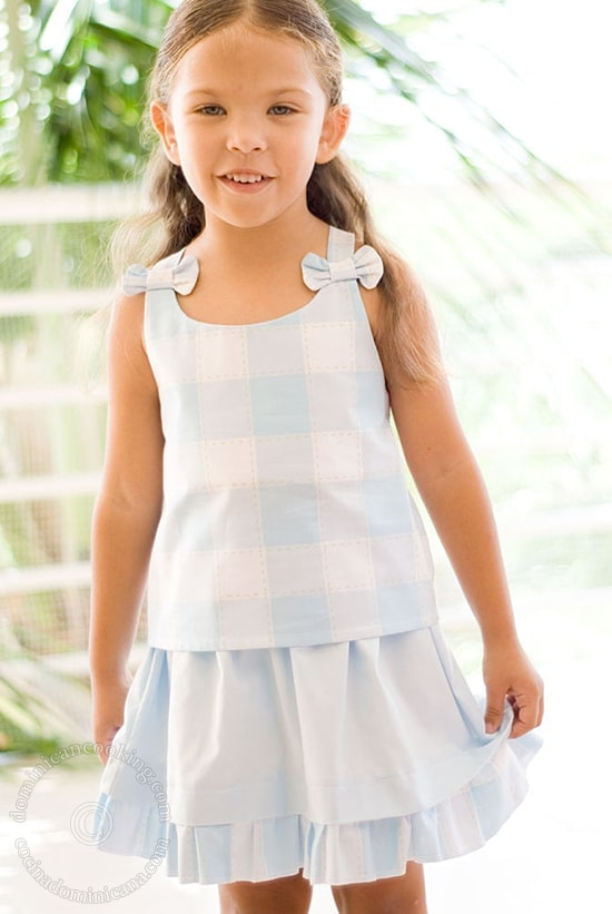 And what do you know, this time I did draw a pattern, so here's the Top and Skirt for Girl (Free Pattern Inside)!