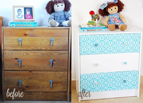 Transforming an Ikea Dresser to Kiddy Delight: It went from  a piece of furniture you wouldn't look twice at to something special.