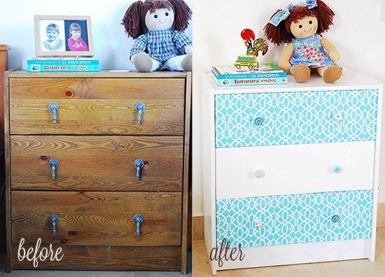 Painting an Ikea dresser