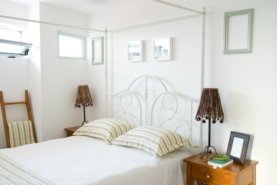 White, Serene Refuges - Peaceful Bedroom Ideas: I really, really love white and serene spaces, especially in bedrooms.
