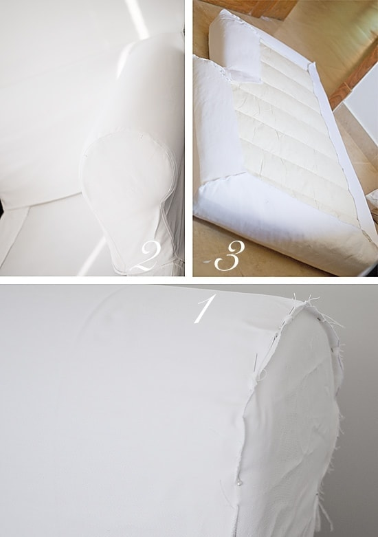 Making a slipcover for a sectional might not be the easiest sewing project, but I am a big fan of removable covers on sofas.