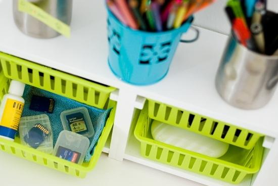 Desk Organization - Ikea Hack