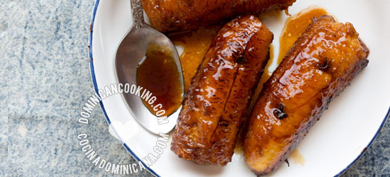 Caramelized ripe plantains (plátanos al caldero)