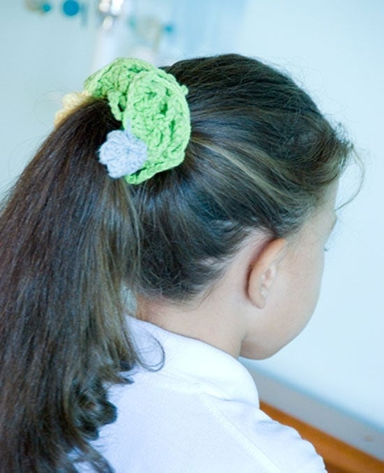 These are some beautiful and simple crochet hair accessories I have made for my daughter. Get inspired to make some too.