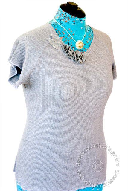 Sewing  v-neck jersey knit top