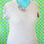 V-neck Jersey Knit Top with Flowers