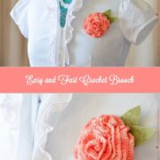 Easy and Fast Crochet Brooch: You can pin it on a blouse for a more formal look, you can dress up a bag, pin it on a hair band, or a wrist band.