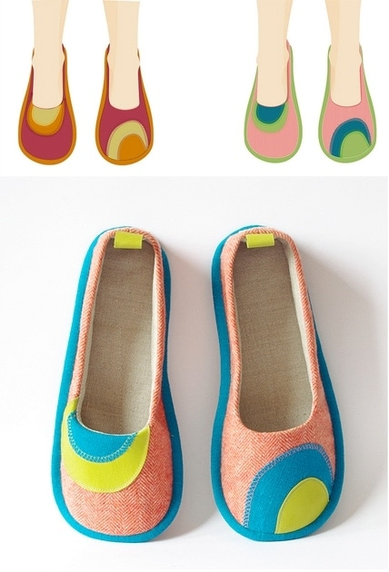 LaLa! Handmade Fabric Shoes Inspiration
