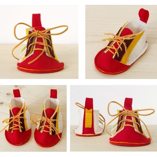 Soft Handmade Fabric Shoes for Babies