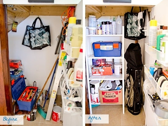 Organizing My Hidden Storage Closet: We have a storage area hidden under the stairs. It's quite a nifty solution.
