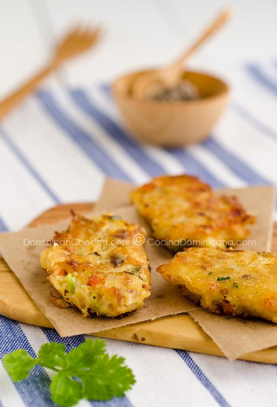 Bacalaitos (Codfish fritters)