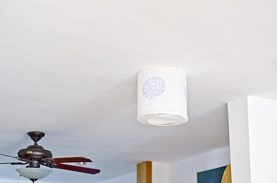DIY Fabric Ceiling Lamp