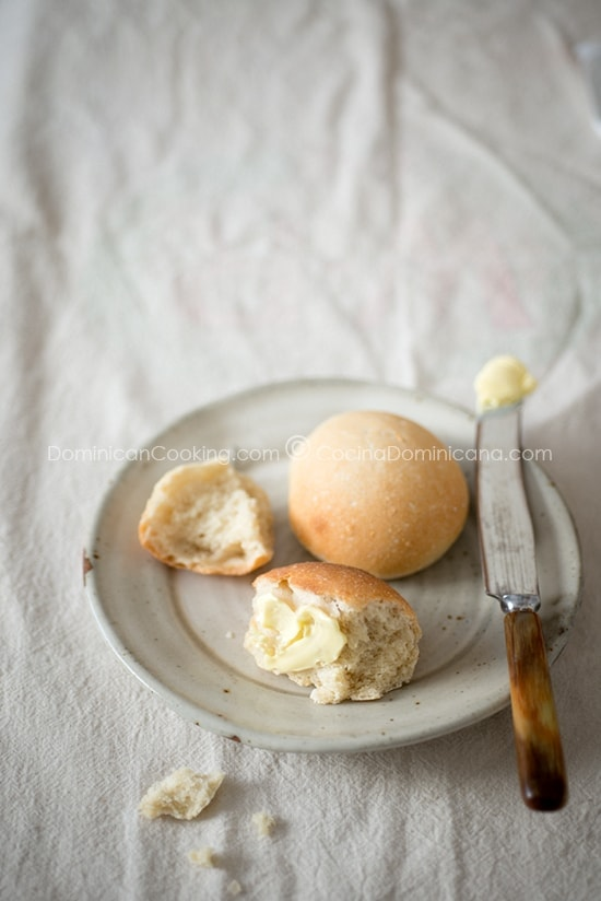 Pan de Agua (Dominican Breakfast Bread Rolls) can be found on the Dominican breakfast table almost every morning. It has a similar texture and taste to that of the French bread.