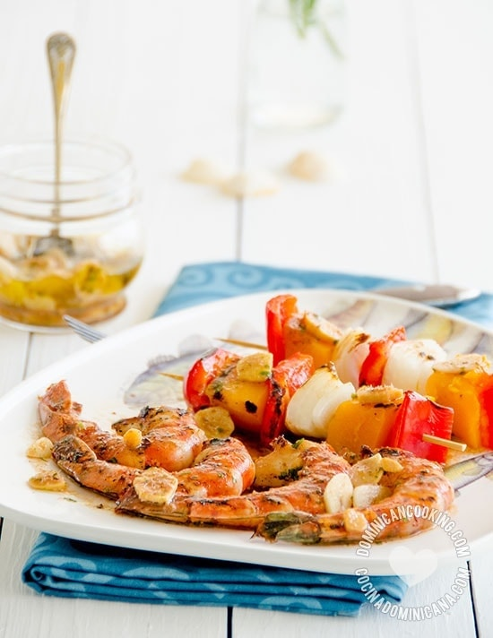 Tiger Prawns in Ginger Marinade - Recipe & Video: it couldn't have been simpler and, tastes just as heavenly when made on the stove-top grill as it does on the BBQ.