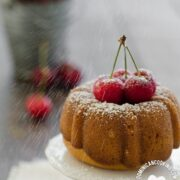 Honey, Cherry and Rum Cake Recipe: A very simple dessert perfect to end your romantic dinner. It's easy to make and does not require hard-to-find gadgets.