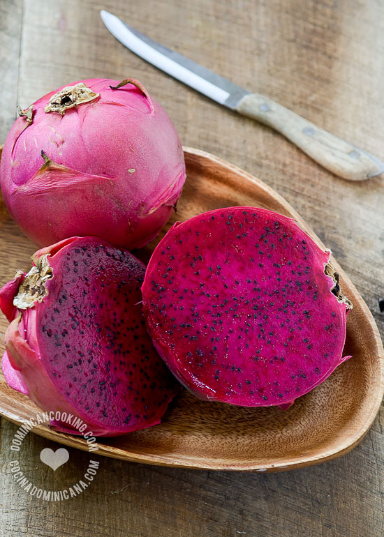 Dragon Fruit in Ginger Syrup Recipe: It combines the beautiful dragon fruit with a hint of spiciness from the ginger in a simple but tasty dessert.