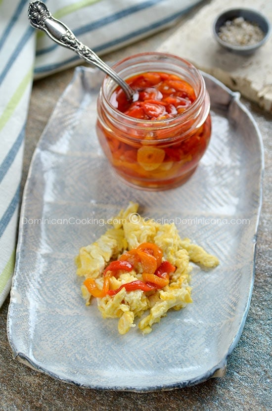 Roasted bell pepper confit