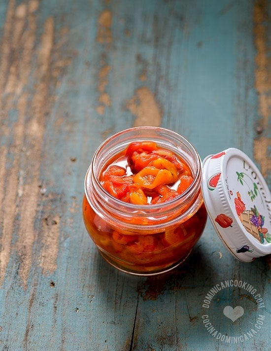 Roasted Bell Peppers Confit Recipe: Serve on a toast, garnish rice and eggs, top your pasta with it. Many uses for these flavorful Roasted Bell Peppers.