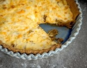 Caramelized Onion Tart with Cheese Crust Recipe: The result is a ...