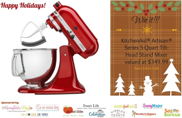 Kitchenaid® Artisan® stand mixer giveaway