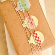 Kraft paper gift-wrapping and edible holiday gifts