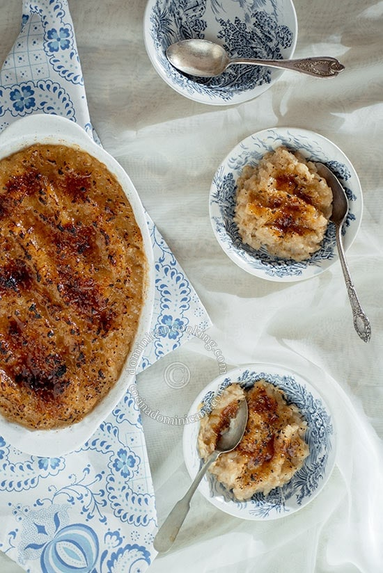 Coconut rice pudding brûlée