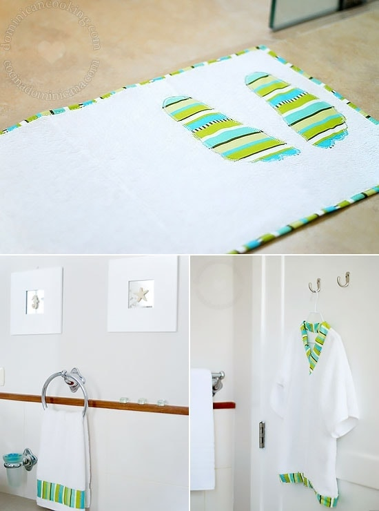 Handmade Towel Set for Kids: I made matching hand towels and a bathrobe. It makes for a lovely handmade towel set for kids, perfect for gifting.