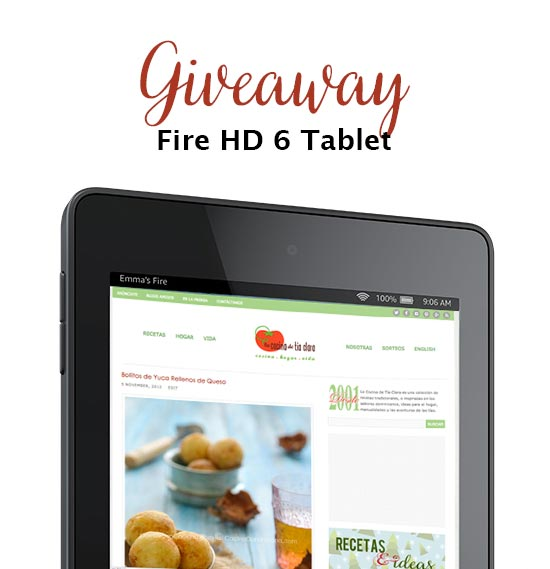 Giveaway: Kindle Fire HD 6 Tablet