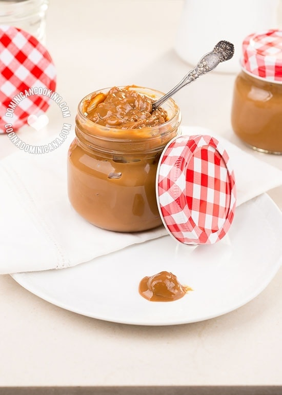 Dulce de Leche Cake Filling Recipe: Use to fill your Dominican Cake, to fill any dessert, to spread on fruit, or as a sauce topping for your frozen desserts.