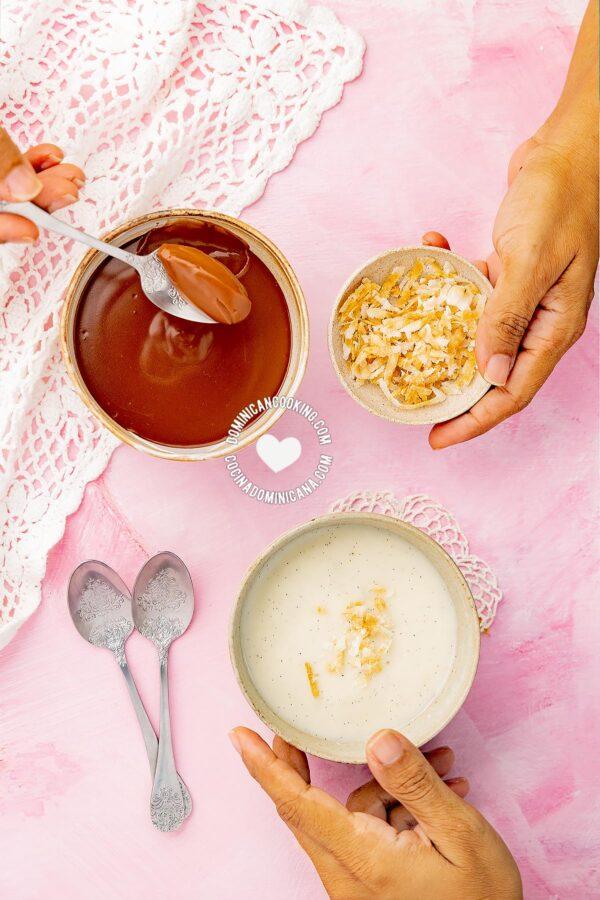 Vanilla and Chocolate Maicena Pudding