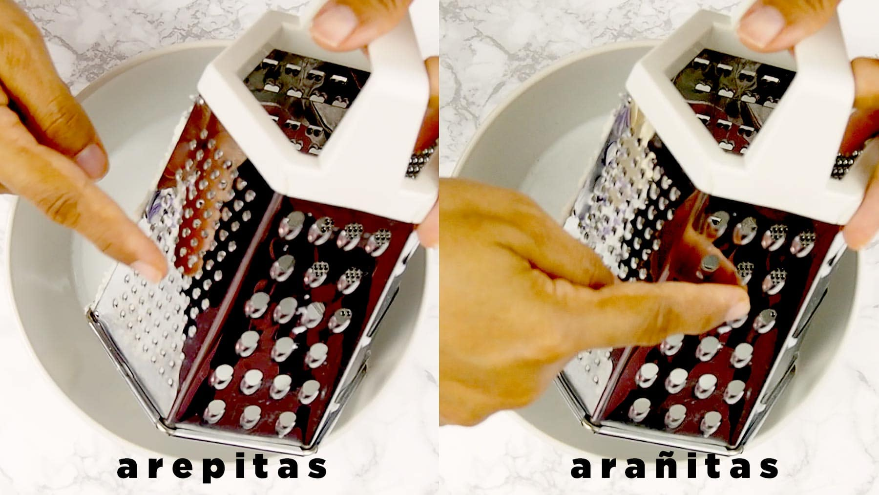Sides of the grater