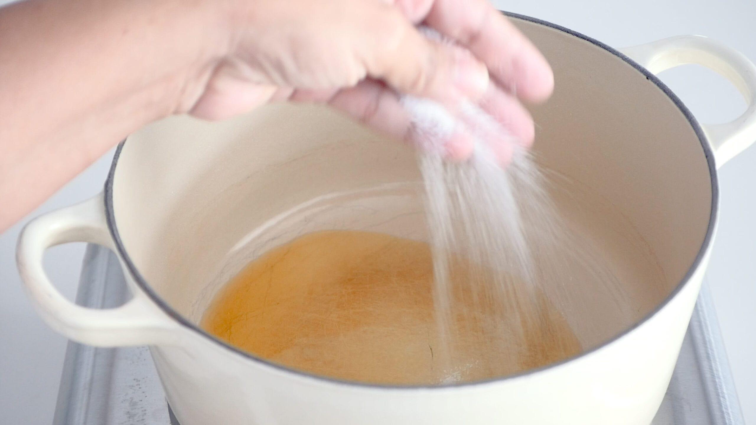 Adding salt to the oil