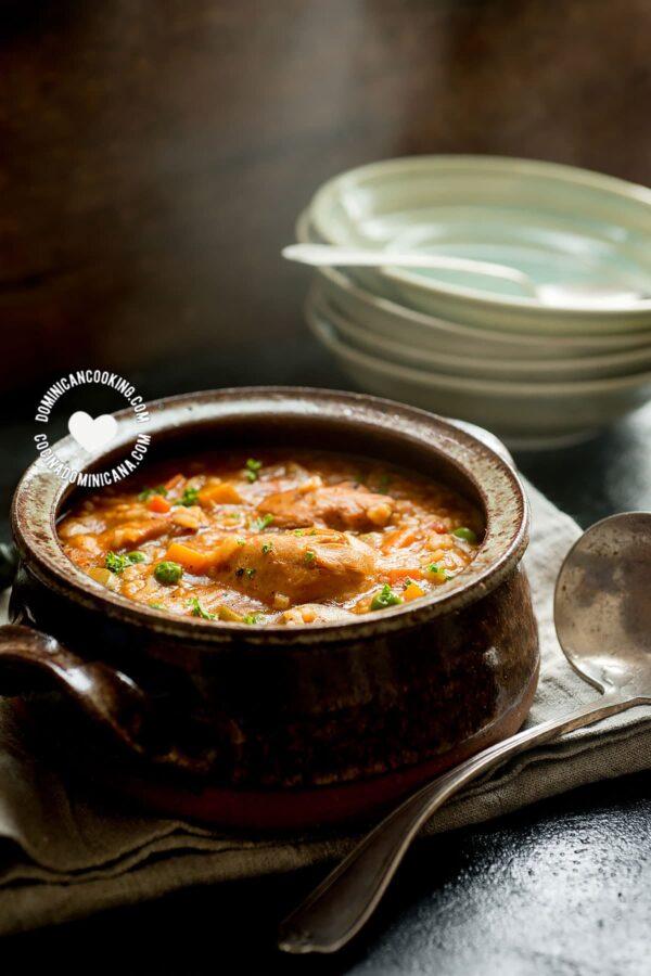 Asopao de Pollo (Chicken and Rice Pottage)
