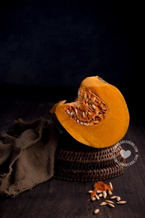 Auyama (pumpkin) slice