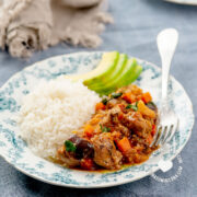 Berenjena Guisada con Cerdo (Braised Pork and Eggplant)