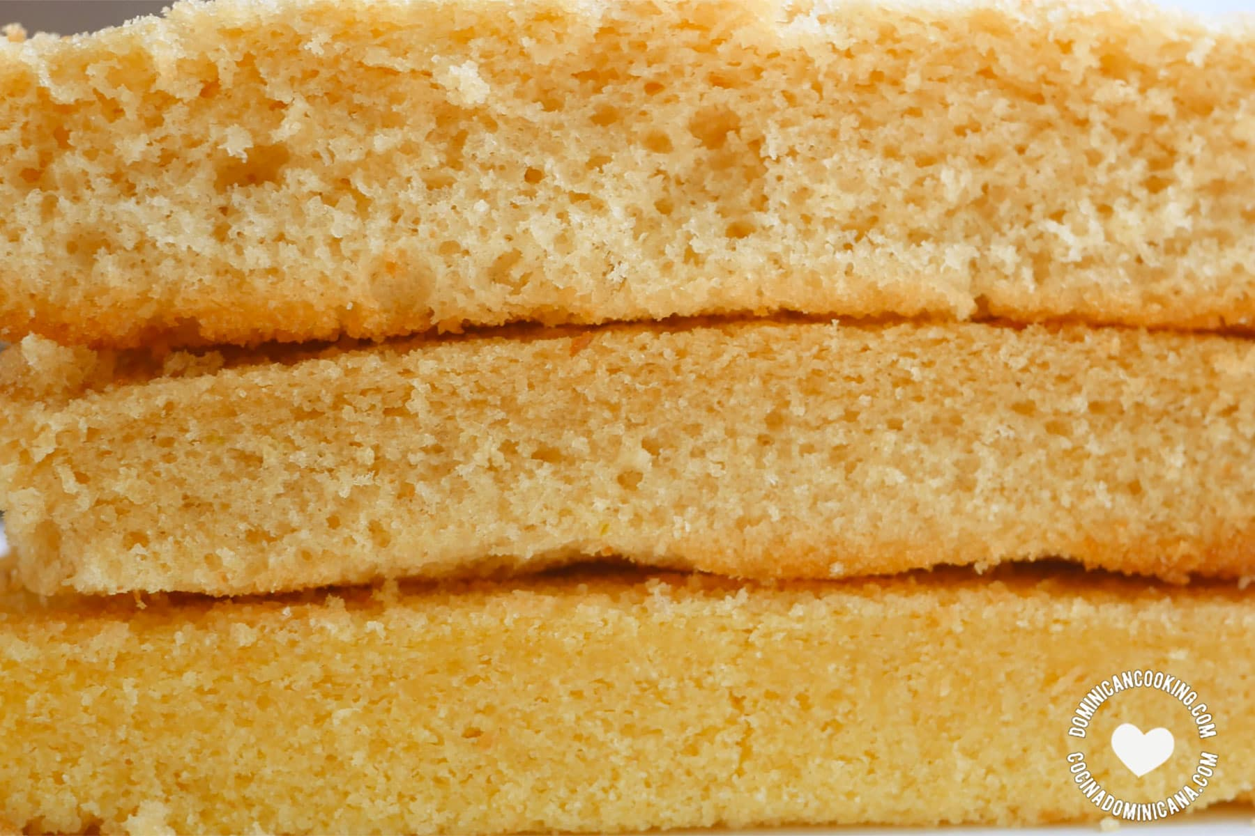 Dominican cake texture