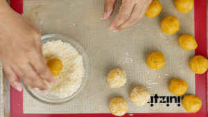 Covering with Parmesan