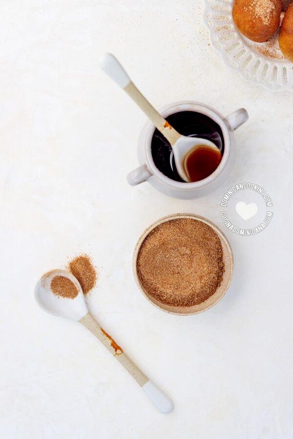 cinnamon sugar and Syrup