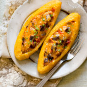 Ripe Plantain Boats (Canoas) with Eggplants