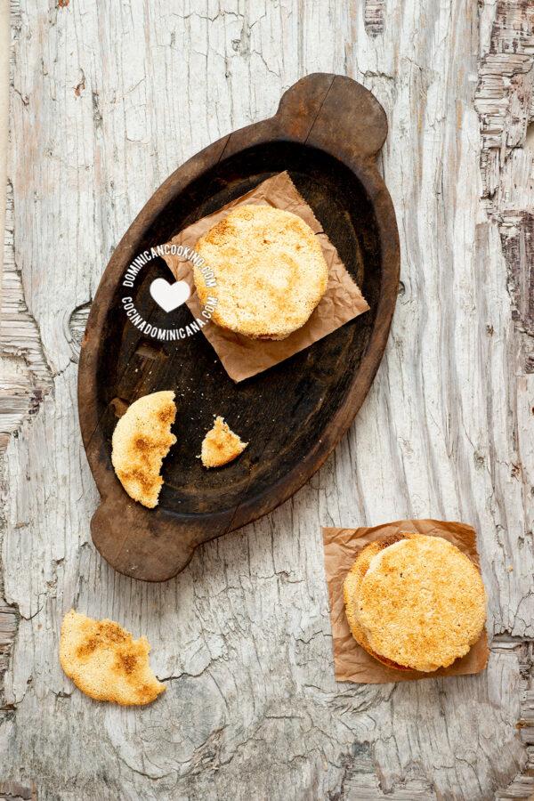 Dominican casabe (cassava or yuca bread)