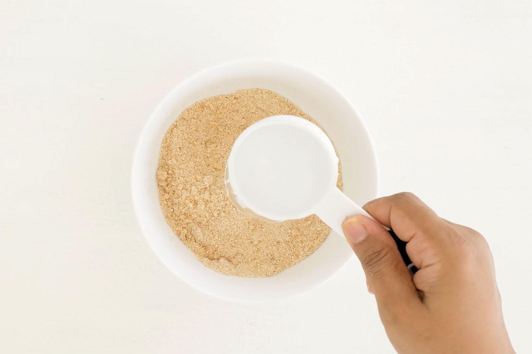 Adding water to yuca flour