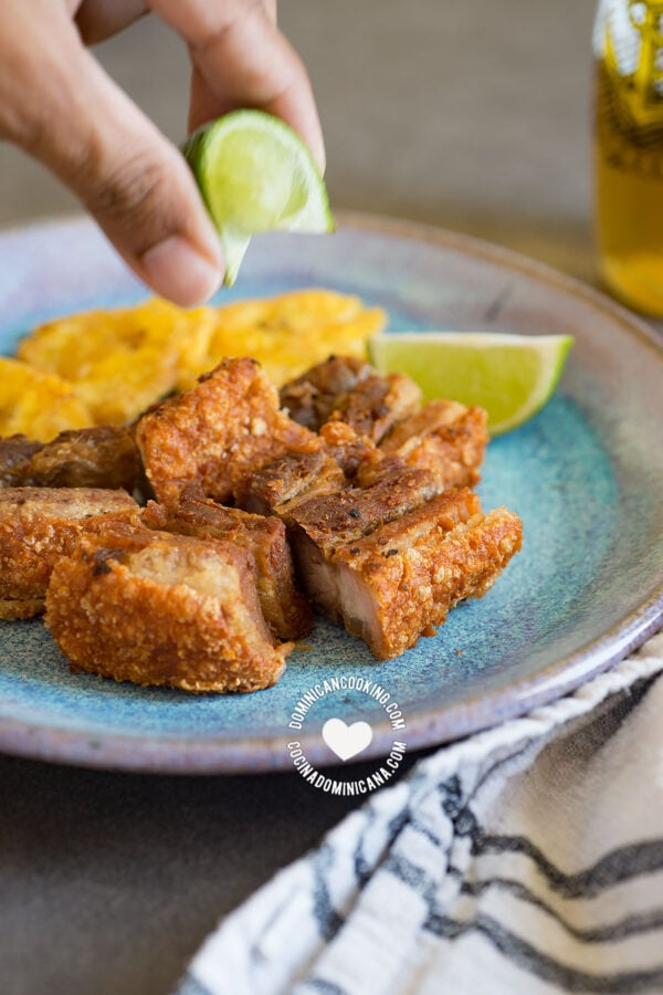 Chicharrón De Cerdo Recipe Video Of Dominican Pork Crackling