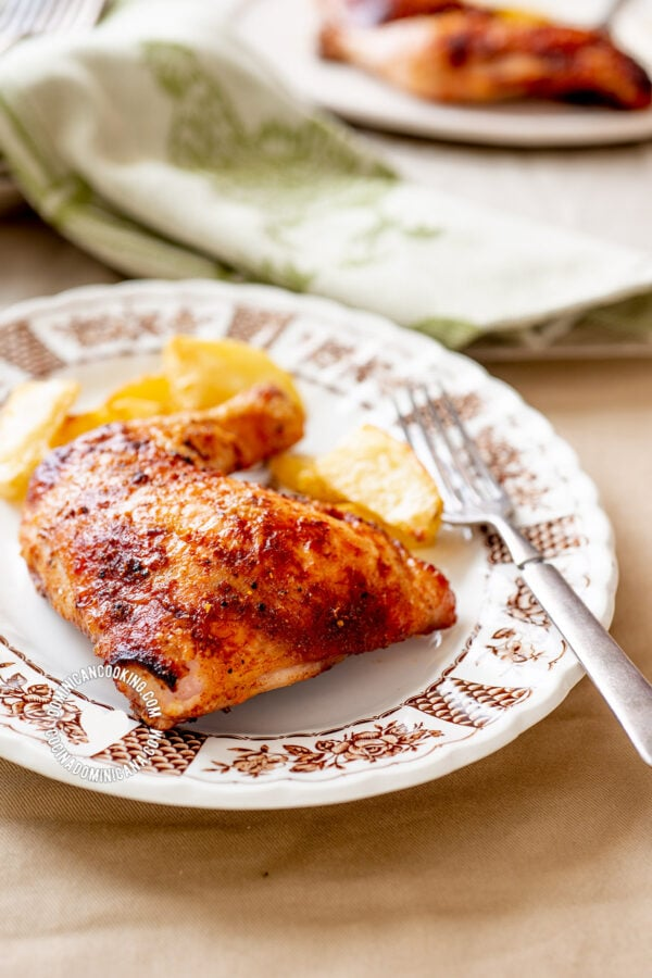 5 Spices and Honey Chicken and Potato Roast