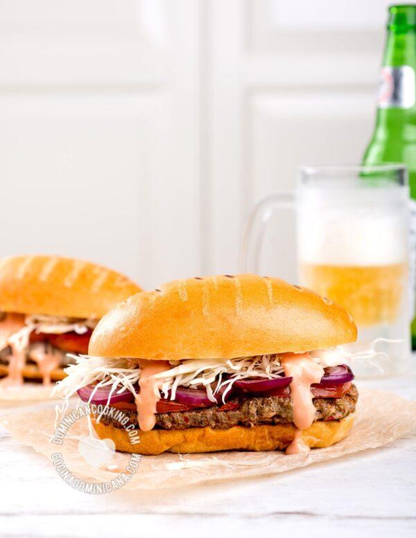 Dominican Chimi Burger