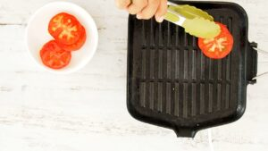 Grilling the tomatoes