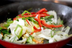 Adding vegetables